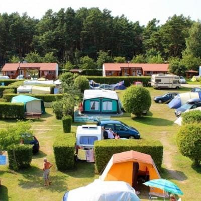 Camping W rowach pole namiotowe